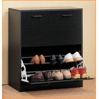 Wholesale Black Modern Shoe Rack Cabinet , Wooden Shoe Cabinet Furniture from china suppliers