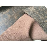 Wholesale 140 cm Width Dark Brown Stretch Leather Fabric With 35 Meters Length Each Roll from china suppliers