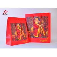 Wholesale High End Red Color Cute Christmas Paper Bags With Handles Matte Lamination from china suppliers