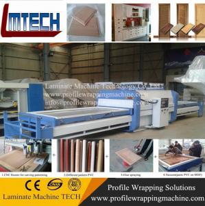 Wholesale New modular design PVC kitchen cabinet door vacuum membrane press machine from china suppliers