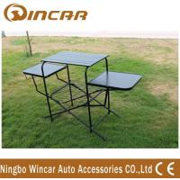 Wholesale PVC polyester Outdoor Camping Tables , Black / Sliver Portable Grill Barbecue Table from china suppliers