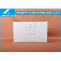 Wholesale Empty White Cardboard Perfume Packaging Boxes With Gold Foil Logo Hinged Shape from china suppliers
