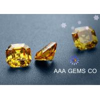 Wholesale Princess Fancy Cutting Decoration Colored Moissanite Champagne Orange Color from china suppliers