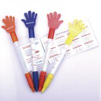 Wholesale hand style banner flag pen, promotional use pull out flag ball pen from china suppliers