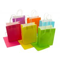 Wholesale Neon Colored Blank Paper Packaging Bags Rainbow Assortment with String Handles from china suppliers