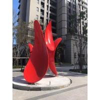 Quality ODM Decorative Stainless Steel Abstract Sculpture Painted Metal Sculpture for sale