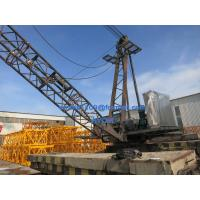 Wholesale QD100 Derrick Tower Crane 10t load 18m Luffing Jib Working Test at Factory from china suppliers