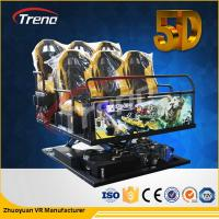 Wholesale 70 PCS 5D Movies + 7 PCS 7D Shooting Games Safety Theme Park Roller Coasters 5D Cinema Simulator With Hydraulic System from china suppliers