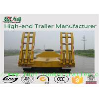 Buy cheap 3 Axle Low Bed Semi Trailer 100t and 50 tons low load trailer from wholesalers