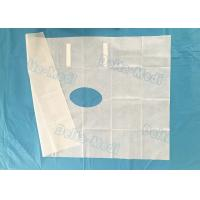 White Fenestrated Disposable Surgical Drapes Waterproof Sterile For Hospital