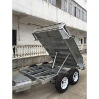 Wholesale Heavy Duty Galvanised 8x5 Tipping Trailer , Hydraulic Electric Tipper Trailers from china suppliers