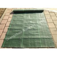 Wholesale Green 100gsm Horticultural Weed Control Mats / Ground Cover Fabric with Plastic from china suppliers