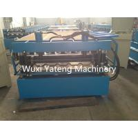 Wholesale 7.5 KW Gimbal Gearbox Drive Roof Panel Roll Forming Machine 8T Weight from china suppliers