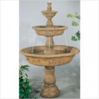 Wholesale Yellow Stone Garden Outdoor 2 Tiers Water Fountain from china suppliers