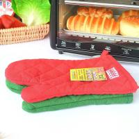 Wholesale ECO - Friendly Customized Kitchen Oven Mitts With Logo Embroidery Bbq Oven Gloves from china suppliers