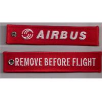 Wholesale Remove Before Flight Airbus keyring /Airbus Embroidered Key Ring from china suppliers