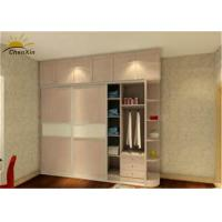 Quality Fashionable White Solid Wood Wardrobe Indoor With 9 Shelves 2 Drawers for sale