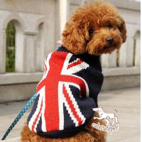 Quality dog sweater with US flag style for sale