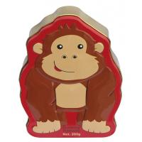 Wholesale Candy Cute Food Grade Tin Containers Tinplate Orangutan Shape from china suppliers