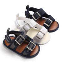 China Free shipping Canvas denim shoes breathable 0-2 years boy and girl Soft sole infant sandals on sale