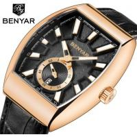 Wholesale Wholesale Benyar Men Retro Barrel Shaped Genuine Leather  Band Quartz  Watch BY-5136M from china suppliers