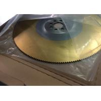 Wholesale TIN gold color coating M2 450x3.0mmx200th HSS circular saw blade from china suppliers