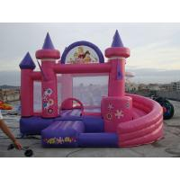 Wholesale Pink Inflatable Amusement Park With Mini Princess Bouncer Castle With Slide from china suppliers