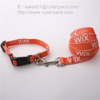 printed polyester ribbon dog collar and dog leash