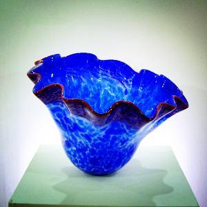 Wholesale Handblown art glass bowls, handblown glass platters , DJ-9015 from china suppliers
