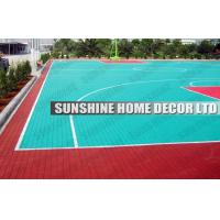 Anti Uv PP Synthetic Interlocking Sports Flooring For Football Field