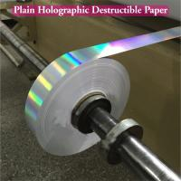Buy cheap Ultra Destructible Tamper Evident Label Material , 3D Hologram Stickers from wholesalers