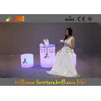 Quality Led Round Bar Stool , LED Cube Chair Glow Furniture With Wireless Remote Control for sale