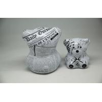 Quality Cute Newspaper Bear Coffee Chocolate Tin Box Gift Packaging Cans for sale