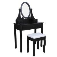Wholesale French classic dresser,dressing table and mirror,mirrored vanity table,stool,wooden hand carved from china suppliers