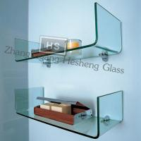 Wholesale 10MM clear one-piece tempered glass  shelf from china suppliers