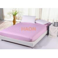 Wholesale Queen size Pink Bed Linen combed cotton sheets For Hotel / Spa / Home from china suppliers