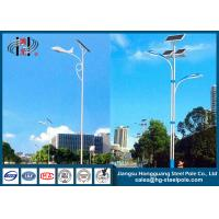 Wholesale Conical , Round Outdoor Solar Powered Light Post Outdoor Lamp Pole With Solar Panel from china suppliers