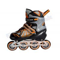 Wholesale PP Shell Indoor Outdoor Kids Adjustable Roller Skates With Embroidery PVC / Nylon Boot from china suppliers