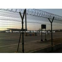 Wholesale Safety Strong Welded Wire Fence Panels Square Hole Shape Nice Appearance / Airport Security Fencing from china suppliers
