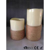 Quality White Led Pillar Candles / Electric Pillar Candles For Indoor LP-001 for sale