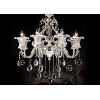 Wholesale Silver Zinc Alloy Luxurious Modern Glass Chandeliers with Pearl Drop , 8 Light from china suppliers