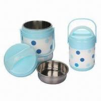 Wholesale Insulation Plastic Lunch Box, Food Grade PP Plastic, Safe to health, 4 Pieces Set Food Warmer from china suppliers