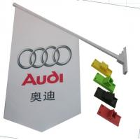 Wholesale Durable Double Sides Shop Front Flags With Bracket / Pvc Pole Full Color Printing from china suppliers