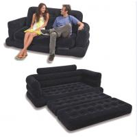 Wholesale Flocking 5 in 1 inflatable air sofa chair,folding air sofa, multifunction air sofa mattress from china suppliers