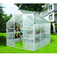 Wholesale Portable Silver Home Garden Greenhouse For Plant , Polycarbonate Twin-wall Greenhouses from china suppliers