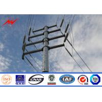 Wholesale Hot Dip Galvanized Steel Electric Utility Poles For Electrical Distribution Line Project from china suppliers