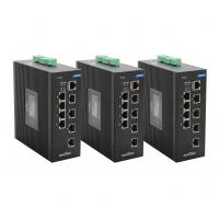 Wholesale Industrial Dinrail Mount Gigabit SFP Fiber Optic Ports POE Network Switch 4.2Mpps from china suppliers