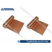 Wholesale ISO Standard Phosphor Bronze Foil / Alloy Foils with protective Surface coatings from china suppliers