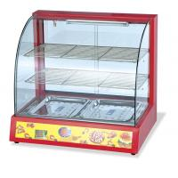 Wholesale Dessert Cake Glass Steaming Commercial Food Warmer Cabinet , Heated Display Cabinet from china suppliers