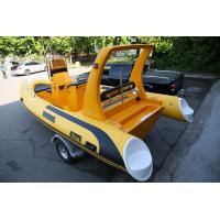 Quality Deep - V Fiberglass Bottom Inflatable Boat 19 Ft With Customized Equipments for sale